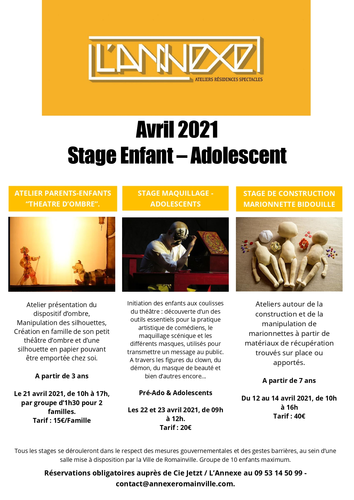 Stages d'avril